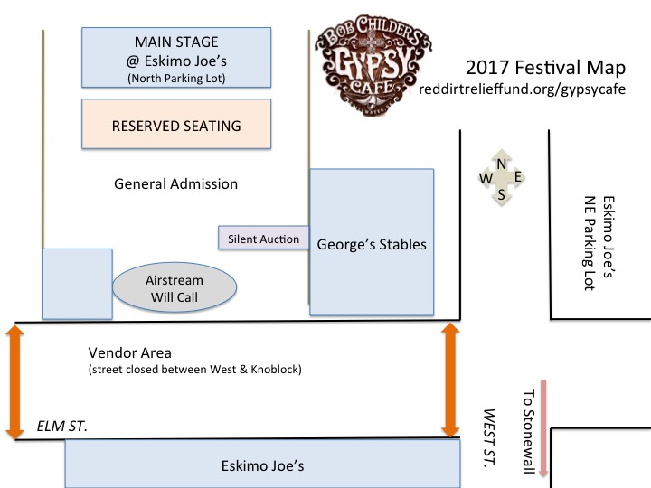 Gypsy Cafe Stage Map